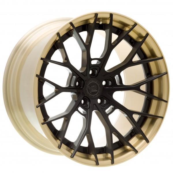 YP 8.2 Forged   Dark Black Brushed/Brushed Gold Lip
