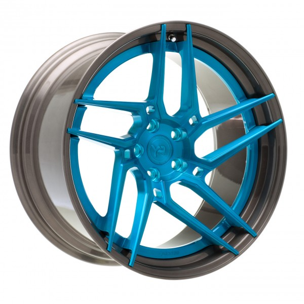 YP 4.2 Forged | Brushed Blue/Brushed Black Lip