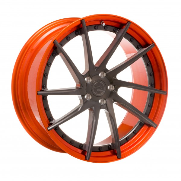 YP 3.2 Forged | Brushed Grey/Candy Orange Lip-Black Hardware